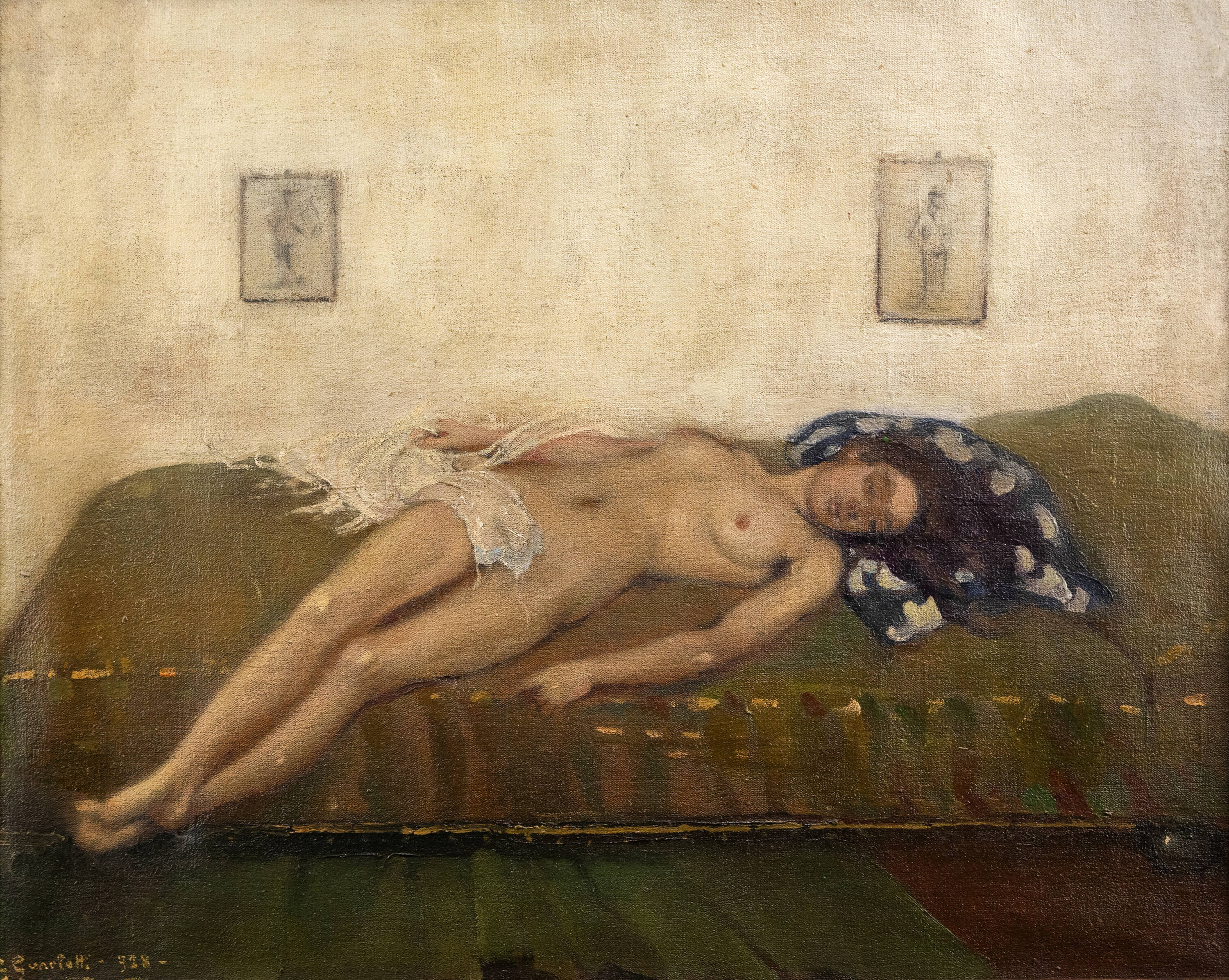 GIOVANNI GUARLOTTI - 'Nudo in posa' 1918