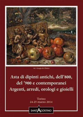 Calendario Aste Torino.Asta 125 Dipinti Argenti Arredi Orologi E Gioielli