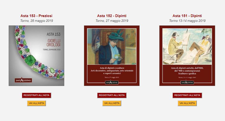 Calendario Aste Torino.Asta 144 Dipinti